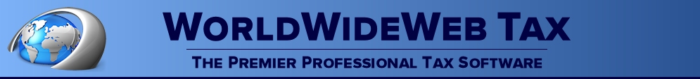 Tax preparation software from WorldWideWeb Tax - your one stop source for affordable tax preparation software!